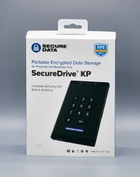 SecureDrive® KP - Hardware Encrypted USB 3.0 External Portable Drive