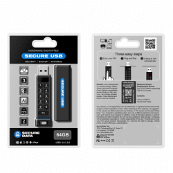 SecureUSB® KP - Hardware Encrypted USB Flash Drive